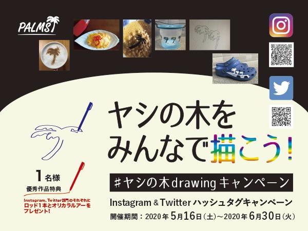 #ヤシの木drawingキャンペーン